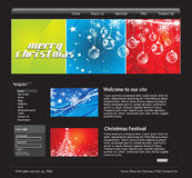 Christmas web template Stock Photography