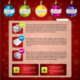 Christmas web template Stock Image