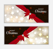 Christmas Website Banner and Card Background Stock Images