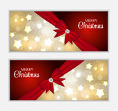 Christmas Website Banner and Card Background Stock Photo