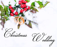 Christmas wedding Royalty Free Stock Image
