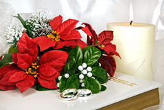 Christmas Wedding Bouquet Stock Photography