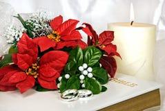 Christmas Wedding Bouquet Stock Photography