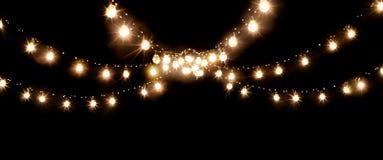 Christmas of wedding lights isolated on black