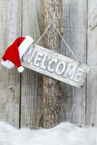 Christmas welcome sign Royalty Free Stock Photo