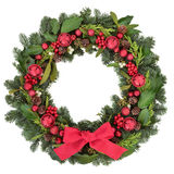 Christmas Welcome Wreath stock photos