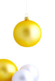 Christmas white background Royalty Free Stock Images