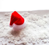 Christmas white background with  hats. Stock Image