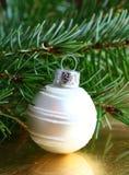 Christmas white ball Stock Photography
