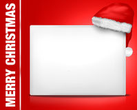 Christmas white blank board sign Stock Photography