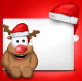 Christmas white blank board sign Stock Image