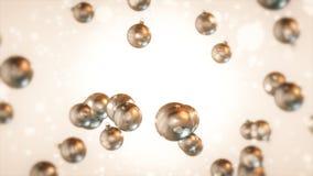 Christmas of White Bulbs Stock Photography