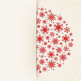 Christmas white card with snowflakes. Vector eps-10. Stock Image