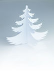 Christmas white handmade paper  tree with white copy space Stock Photography