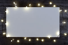 Christmas white mock up poster Royalty Free Stock Image