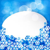 Christmas white paper label. Royalty Free Stock Photos