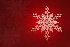 Christmas White Snow flake Stock Image