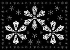 Christmas - White Snow Flakes Background Stock Images