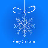 Christmas white snowflake. Christmas snowflake made of small white snowflakes Royalty Free Stock Photography