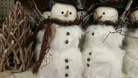 Christmas White Snowmen Royalty Free Stock Photography
