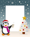 Christmas White Tree - Drunk Penguin Royalty Free Stock Photos