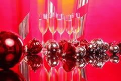 Christmas white wine Stock Photography
