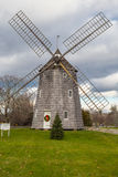 Christmas Windmill East Hampton New York. The windmill with Christmas wreath and tree in East Hampton New York, on a grey day Royalty Free Stock Photography