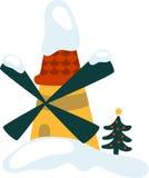 Christmas Windmill Royalty Free Stock Photos