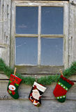 Christmas Window Royalty Free Stock Photos