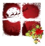 Christmas window. Raster version of illustration Royalty Free Stock Photos