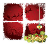 Christmas window. All elements and textures are individual objects. Vector illustration scale to any size Stock Photo