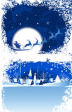 Christmas window. All elements and textures are individual objects. Vector illustration scale to any size Stock Images