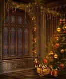 Christmas window Stock Photos