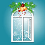 Christmas window Royalty Free Stock Photo