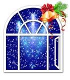 Christmas window Stock Image