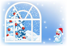 Christmas window Stock Photos