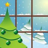 Christmas through window Stock Photos