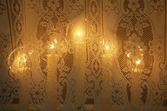 Christmas Window Candles Royalty Free Stock Images