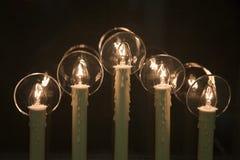 Free Christmas Window Candles Stock Image - 14548801