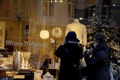 CHRISTMAS WINDOW DECORATONS Royalty Free Stock Image