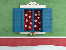 Christmas window Stock Photography