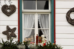 Christmas Window in Germany Stock Photography