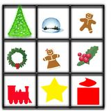 Christmas Window Illustration Royalty Free Stock Photography