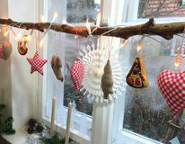 Christmas window royalty free stock image