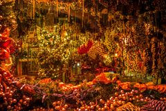 Free Christmas Window Of The Cafe Royalty Free Stock Image - 82236036