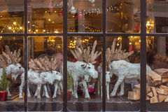 Christmas window. Of pub in Munich. Germany Royalty Free Stock Photos
