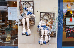 Christmas Windows  in Bayeux. Stock Images