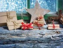 Christmas on the windowsill Royalty Free Stock Image