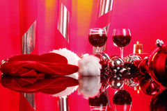 Christmas wine Stock Image