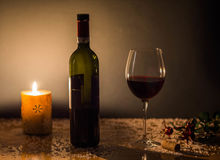 Christmas wine and fire Royalty Free Stock Photography